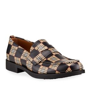 Burberry loafters.